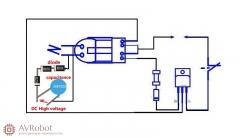 Набор для сборки высоковольтного преобразователя 15 кВ для физических опытов 3,7-4,2В