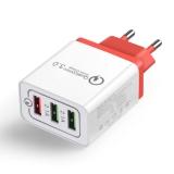 Адаптер питания - зарядное устройство AC 100-240В - DC 5В 4.8А, 9В 1.8А, 12В 1.5А, три порта USB, с поддержкой QC2.0 и QC3.0