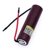 Аккумулятор LG HG2 18650 DBHG2 3.6В 3000мАч, 10.8Wh, максимальный постоянный ток 12А, импульсный ток 30А, с приваренными контактами
