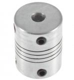 Гибкая соединительная муфта 5*5*25мм, алюминий, диаметр 19мм, на вал 5мм / 5мм