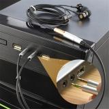Переходник - аудио адаптер для наушников 3,5мм с позолоченными контактами