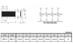 Сборка резисторная 47 Ом, размер SMD 1206 (4x0603)