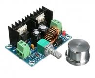 DC-DC регулируемый преобразователь с регулировкой напряжения, вход 4-40В, выход 1.25 - 36В, ток 0-8.0А 200 Вт, на чипе XL4016