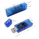 Электронный портативный USB тестер AT34 с полноцветным ЖК дисплеем (напряжение, ток, мощность, емкость, температура)