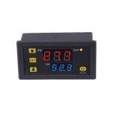 Цифровой контроллер температуры с термопарой, W3230, -50°С ~ +120°C, 12В, ток управления 20A, красный + синий дисплей