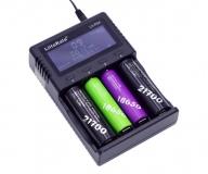 Зарядное устройство LiitoKala PD4 для 1-4 аккумуляторов Li-Ion, Li-Pol, LiFePo4, Ni-MH/Cd типа A, AA, AAA, 18650, 14500 и т.д. с питанием от AC 110-240В или DC 12В