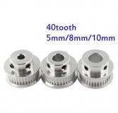 Шкив (ролик) 40-GT2-6 BF алюминиевый для GT2-ленты шириной 6мм, 40 зубьев, на вал 8мм