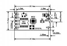 Радиомодуль HC-12 433Mhz на SI4463 c UART интерфейсом