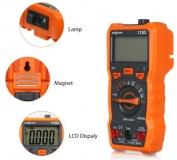 Мультиметр RICHMETERS RM113D с термопарой True RMS, NCV-сенсором, фонариком и магнитным креплением