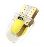 Светодиодная лампа для автомобиля цоколь T10, 12В W5W 4 COB, 9,5*21мм