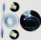 Кабель micro USB - USB 1м с цветной RGB подсветкой