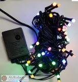 Новогодняя гирлянда светодиодная линейная LED-3014B, длина 6 метров 38 светодиодов, белая матовая, тёмный провод, 220В