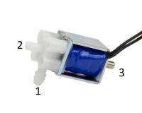 Миниатюрный электромагнитный клапан, двухрядный трехходовой, 5В 220 мА