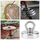 Неодимовый магнит мощный с кольцом, диаметр 36мм, грузоподъемность 20кг