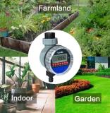 Автоматический электронный таймер Aqualin для систем орошения и полива с ЖК-дисплеем и шаровым клапаном на шланг 3/4