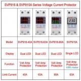SVP916-40A Регулируемое реле защиты по напряжению и току до 40А с вольтметром и амперметром, на DIN-рейку 35мм