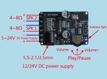 Компактный стереоусилитель XY-P40W 2*40Вт с Bluetooth 5,0 класс D, питание 6-26В