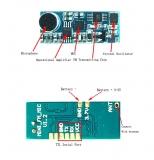 Миниатюрный беспроводной радиомикрофон FM 87 - 108 мГц трансмиттер размер 25*10*3мм