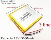 Литий-полимерный аккумулятор 3,7В 428787 5000mah с контроллером заряда/разряда