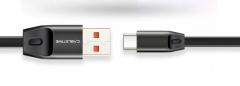 Кабель USB Type C - USB 1м, максимальный ток 2.4А, защита от изломов, CABLETIME