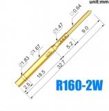 Гнездо (гильза) для пружинного контакт-зонда R160-2W, (32.7мм, сечение контакта 0.64мм, длина контакта 9мм)