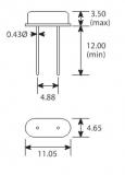 HC-49S 12.000 МГц резонатор кварцевый