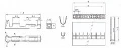 BL-T контакт для розеток BLS и BLD (упаковка 5 шт.)