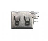 Разъем USB на плату (мама) с углом 90 градусов, укороченный корпус 10 мм