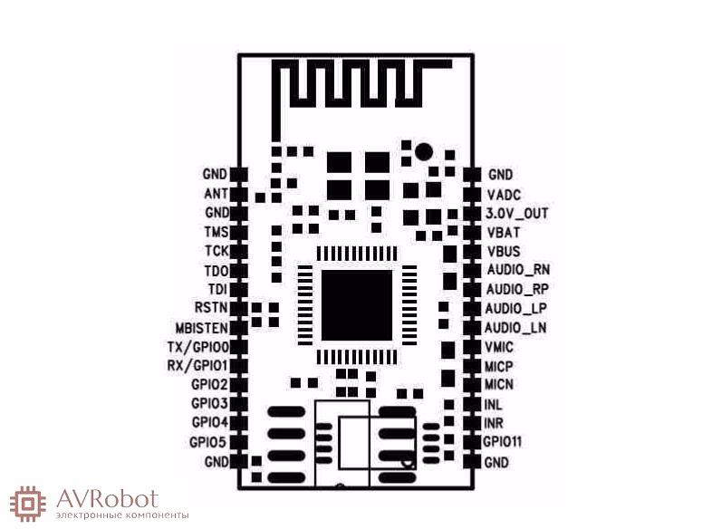 Bluetooth аудио модуль bk3254 схема