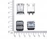 Двойной USB разъем с контактами на 180 градусов (мама)