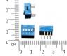 Тумблер 4P 2,54 мм шаг DIP-переключателя (синий)