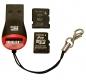 Миниатюрный картридер для карт Micro SD  с интерфейсом USB 2.0