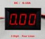 Амперметр 0-9.99А (3 разряда) красный цвет