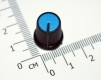 Ручка из пластика синяя (одноместные, двухместные потенциометры, высокое качество)