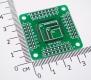 Переходник / адаптер для микросхем, QFP 32/44/64  0.8мм  (двухсторонняя плата)