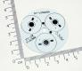 Алюминиевая подложка/радиатор для 3*1Вт светодиодов (SY-LV5649A)