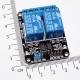 Модуль реле 2-х канальный для Arduino (с оптронной изоляцией 5В, переключение 0, реле SONGLE)