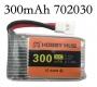 Литий-полимерный аккумулятор 3,7В  072030 702030 300mah 30C