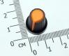 Ручка из пластика оранжевая (одноместные, двухместные потенциометры, высокое качество)