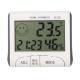 Цифровой LCD термометр-гигрометр-часы-будильник с креплением на магните, -10°C + 50°С, 20%-99%PH