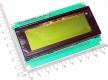 Дисплей Arduino IIC / I2C 2004 LCD зелено-желтый LCD J204A дисплей (5В), HD44780, PCF8574