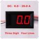 Амперметр 0-20.0А (3 разряда) красный цвет