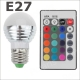 Светодиодная RGB лампа E27 85-265В 5 Вт с дистанционным управлением