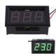 Электронный встраиваемый вольтметр 30В-500В (зеленый, переменное напряжение)