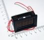 Электронный встраиваемый вольтметр 60В-300В (красный, переменное напряжение)