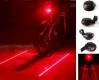 Велосипедный задний фонарь с лазерным указателями