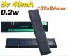 Поликристаллическая солнечная батарея 5-5.5В 40мА , размер 107 х 24 х 2.5 мм
