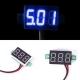 Бескорпусной электронный встраиваемый вольтметр 0-30В (синий, 3 разряда) 0,28