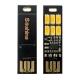 Миниатюрный USB светильник 5В 0,15А 6 светодиодов 5730 с диммером, теплый белый свет