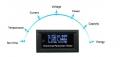 Универсальный измерительный прибор 7-в-одном вольтметр-амперметр-термометр-время-мощность-емкость-энергия OLED экран